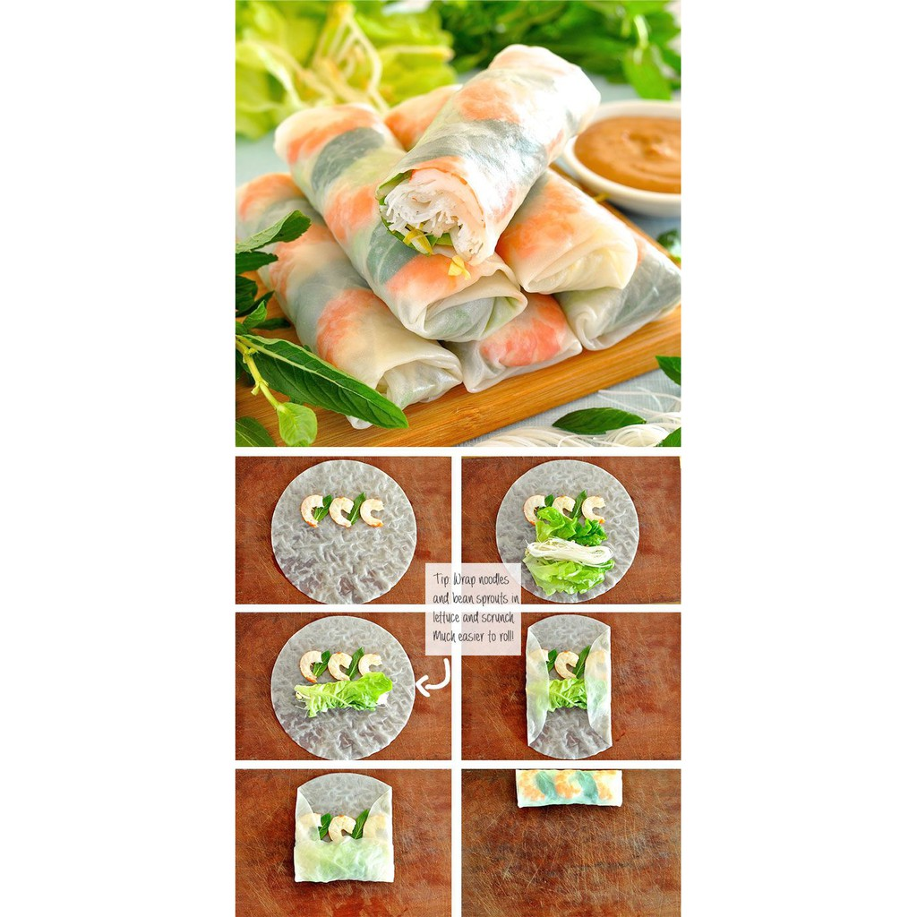 Vietnamese Rice Paper 300g Kulit Popiah Vietnam Spring Rolls 16
