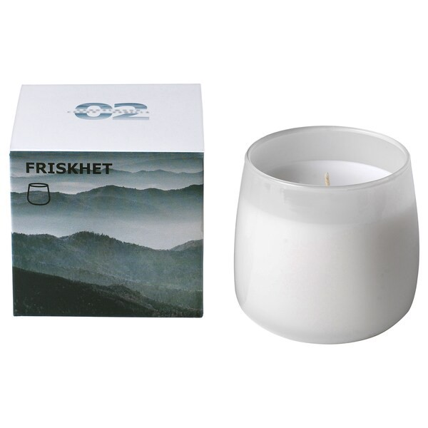 IKEA FRISKHET Luxurious Romantic Room Bedroom Living Room Refreshing Warm Scented Candle in Glass