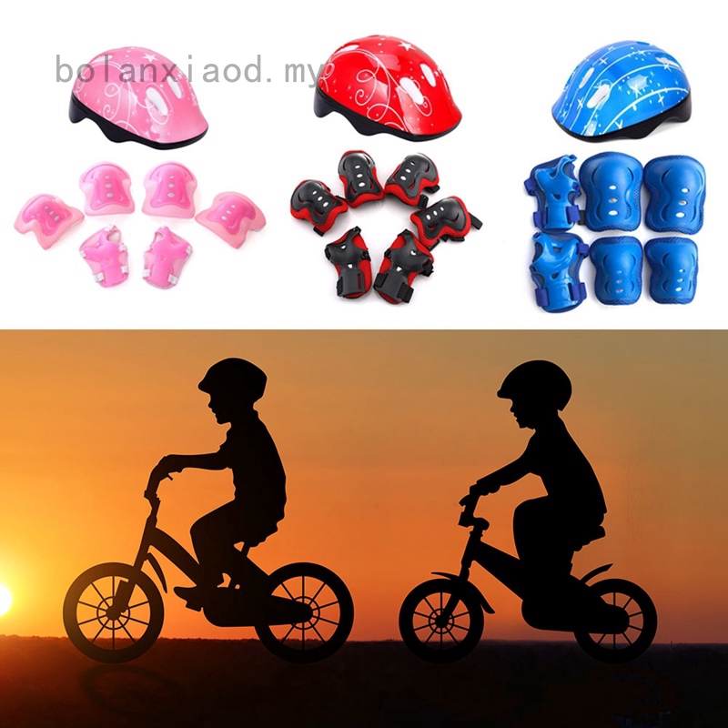 Kids Safety Helmet /& Knee /& Elbow Pad Set For Cycling Skate Bike For 5-15 Years