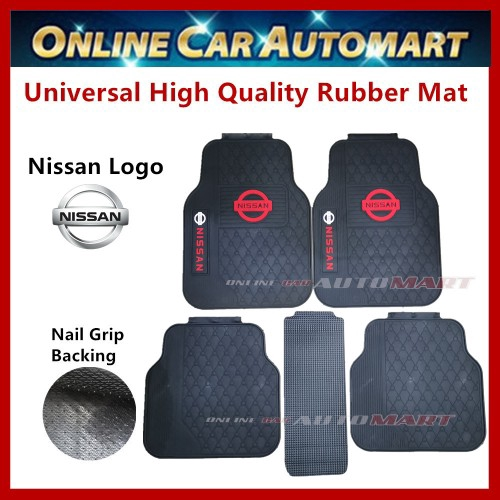 Universal High Quality Rubber Spike Nail Backing With Nissan Logo Floor Mat