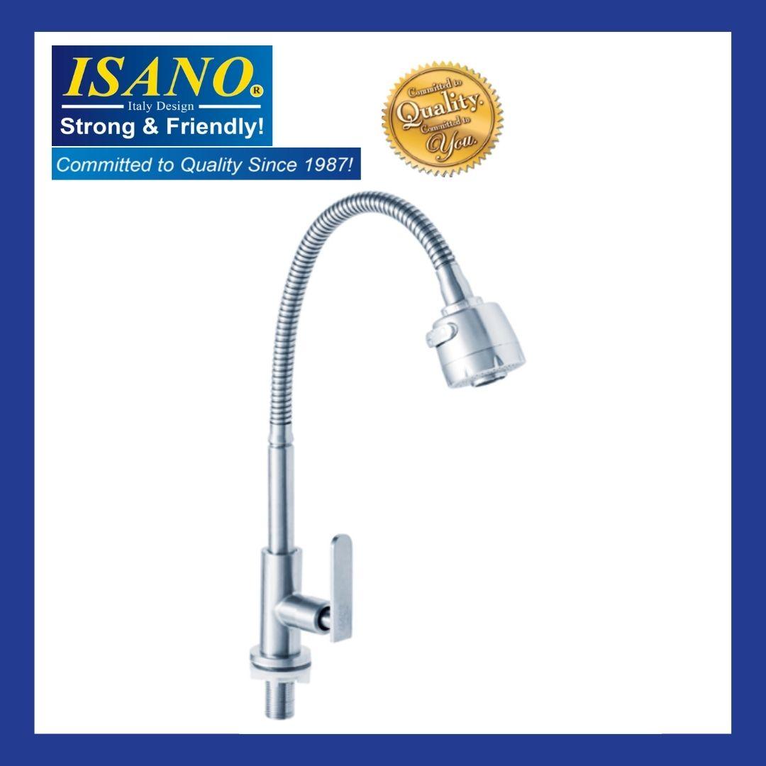 ISANO Kitchen Faucet Flexible Neck Pillar Sink Tap - 1000FI