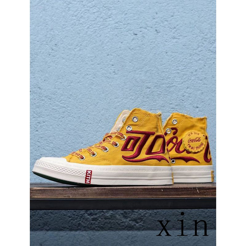 91588c8a KITH x Coca-Cola x Converse Women Men Tripartite Joint Name Shoes Sneakers  | Shopee Malaysia