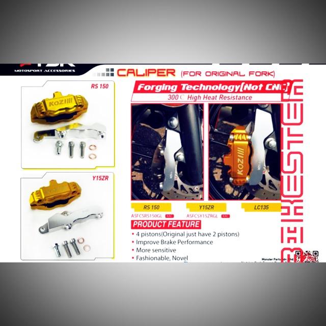 🇲🇾 Kozi FORGED 4 piston caliper pump RS150R & Y15zr