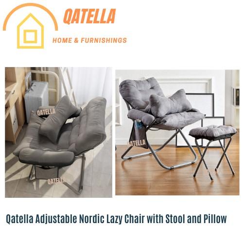 Qatella Lazy Sofa Simple Office Recliner Single Creative Back Fabric Folding Chair Sofa Computer Chair/Lazy Office Chair