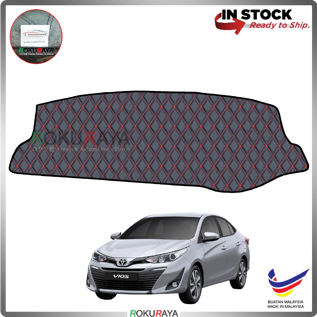 Toyota Yaris Vios Facelift 2019 RR Malaysia Custom Fit Dashboard Cover (RED LINE)