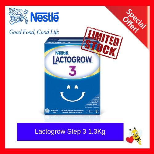 Nestle Lactogrow Step 3/Step 4 (1-3 Years) 1.3kg (FREE SHIPPING) [Expiry 07/2020]