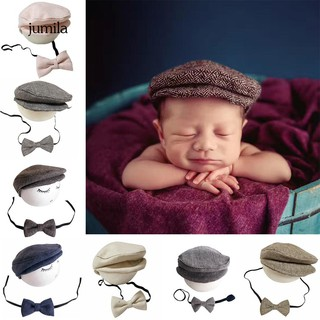 61707c36 JL_Newborn Baby Infant Peaked Beanie Cap Hat Bow Tie Photography Props  Outfit Set | Shopee Malaysia