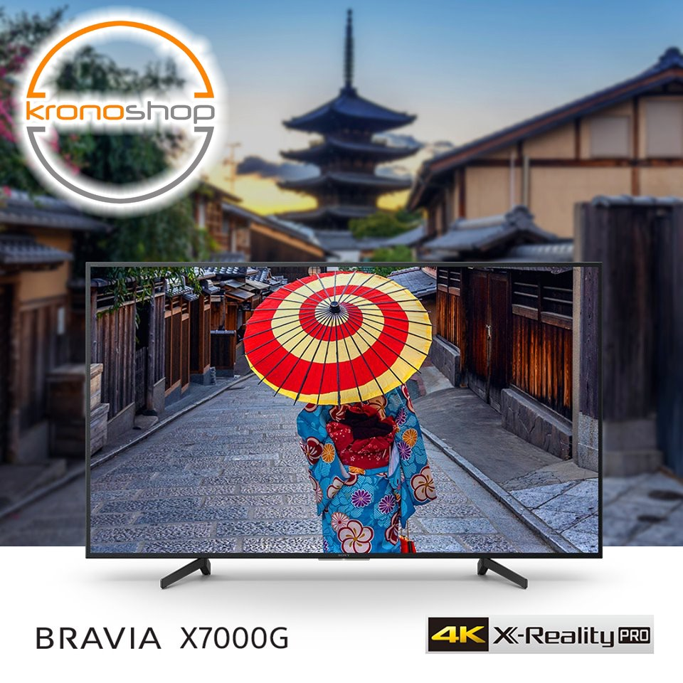 (Free Bracket and HDMI Cable) Sony 55 Inch 4K UHD Triluminos Smart LED TV X70G KD55X7000G KD-55X7000G