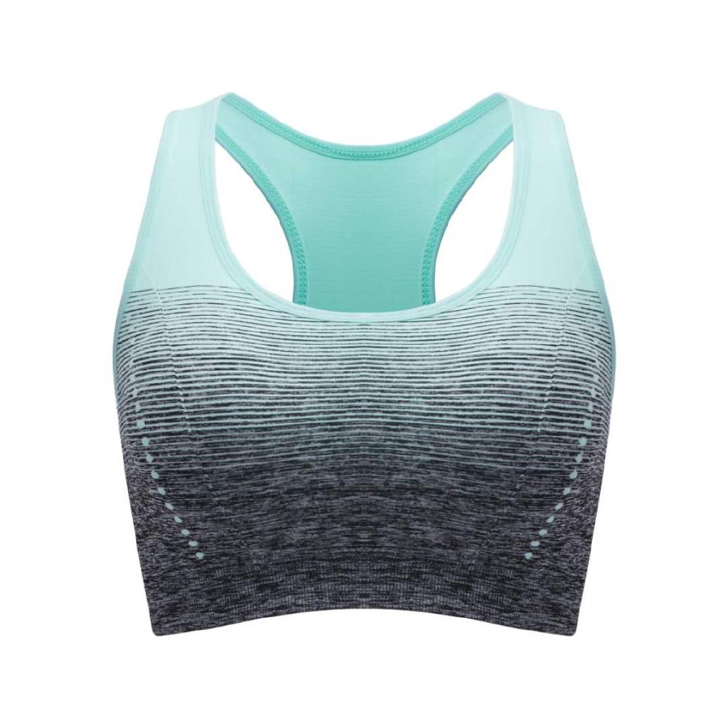 Women Padded Sports Bra Gym Yoga Vest Fitness Jogging Runner Comfy Mesh Crop Top