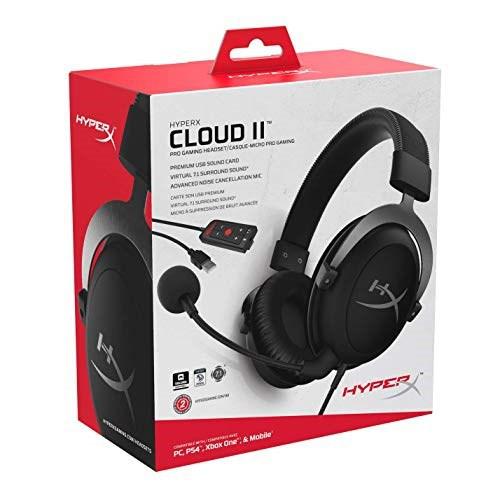 {KHX-HSCP-GM/KHX-HSCP-RD} HyperX Cloud II Gaming Headset - PC {Gun Metal/Red)