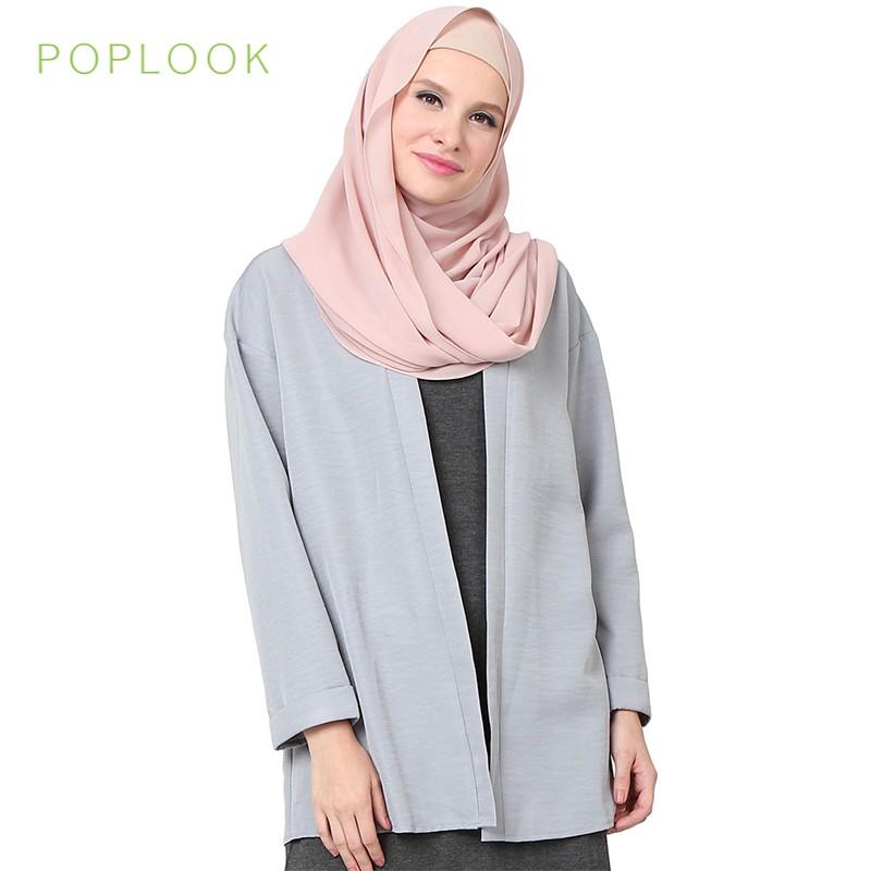 3ddfd2897c Poplook Paccia Drop Shoulder Cardigan - Light Grey