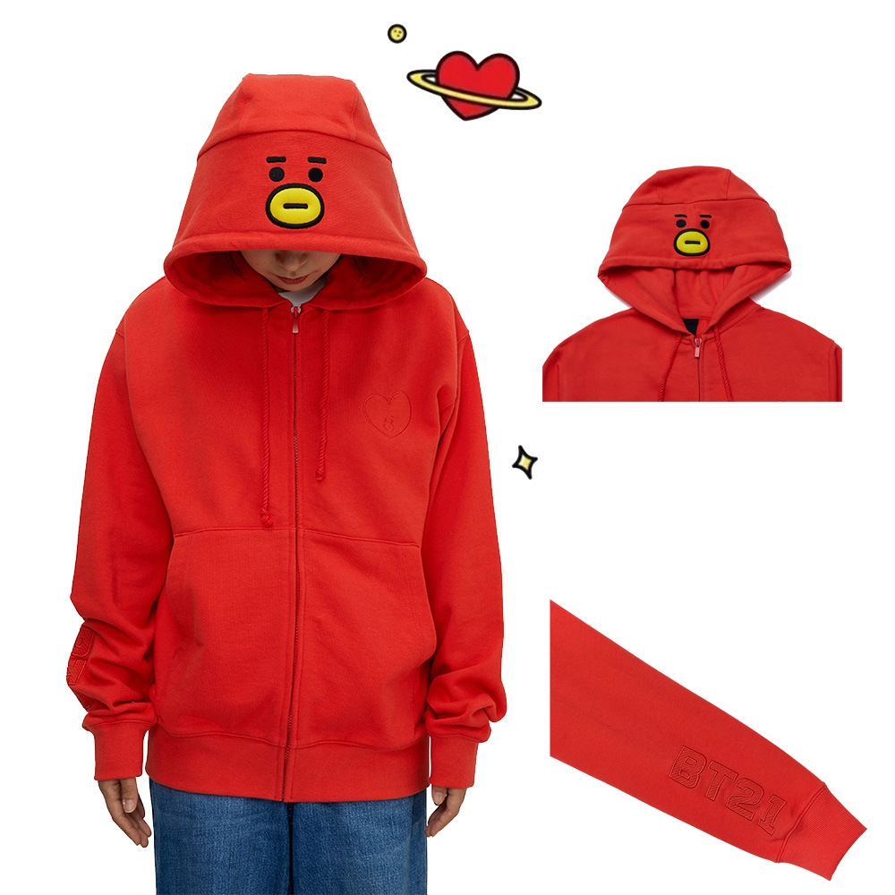 Bts Official Style Embroidery Hooded Sweater Bt21 Cartoon