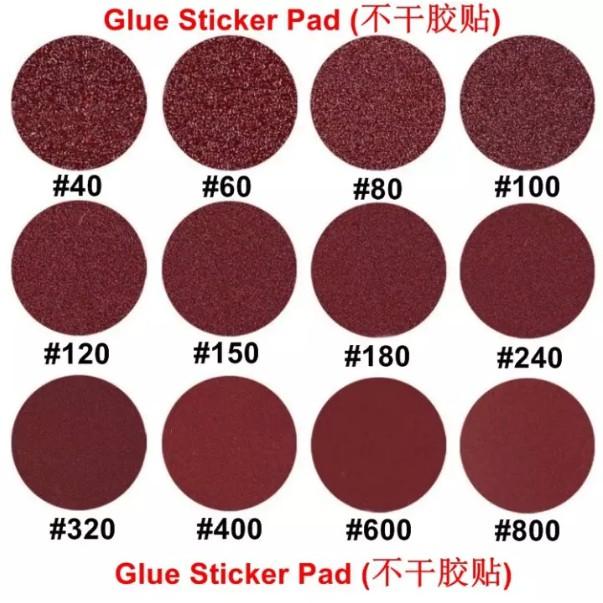 "Sanding Disc (Stikit Type) 5""inch 125mm Sand paper with Glue Sticker Pad (不干胶贴)"