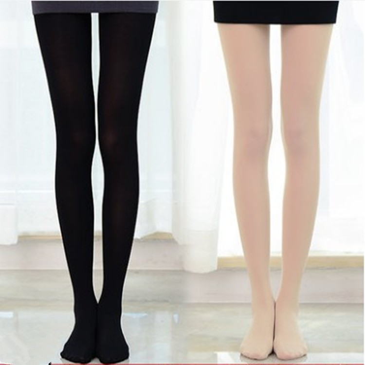 ae992c20a84  Fresh ❀Sexy Women Glitter Pantyhose Footed Tights Stretchy Solid Color  Long Stockings