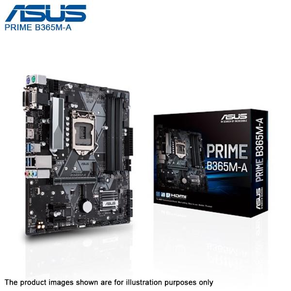 Asus Prime B365M-A Intel 9th 8th B365 LGA 1151 DDR4 DVI VGA HDMI M 2 OPTANE  Ready Micro ATX motherboard