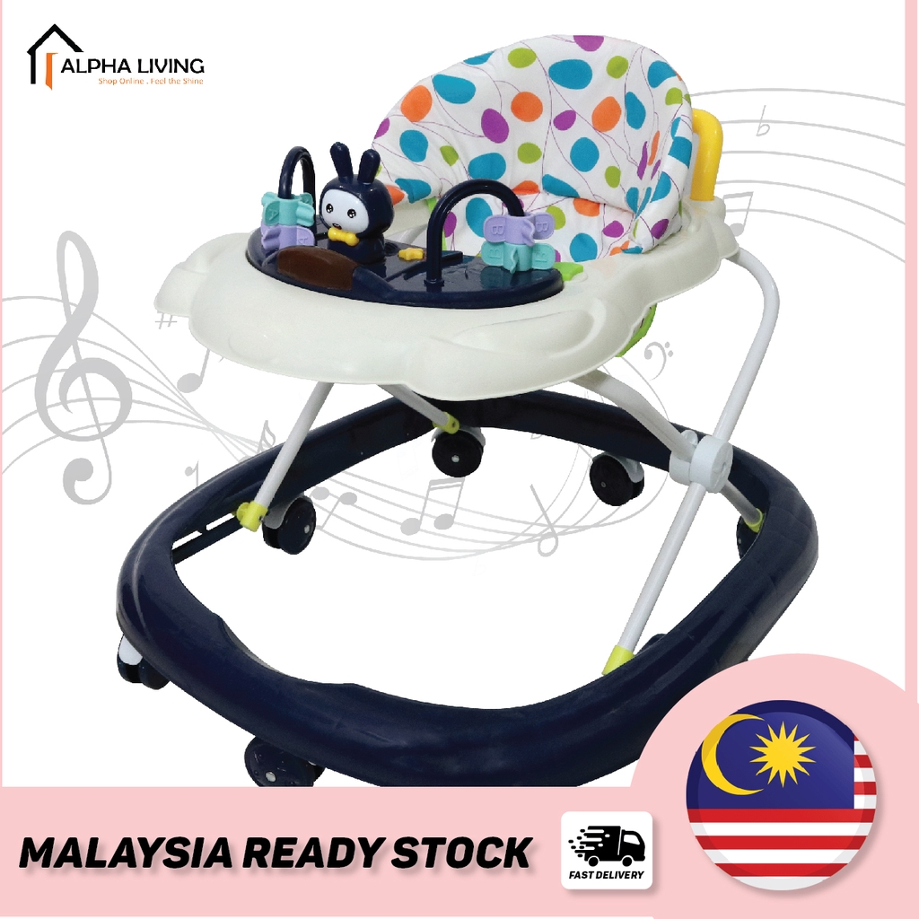 Adjustable and Compact Foldable Travel Baby Walker with Music (BAY0087)