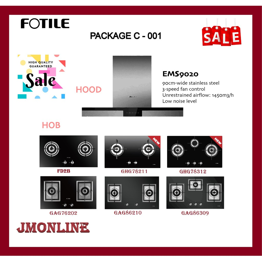 FOTILE EMS9020 CHIMNEY HOOD 1400m3/h ENERGY SAVING TOUCH PANEL PATENTED WING-LIKE SUCTION PLATE TOUCH CONTROL LOW NOISE