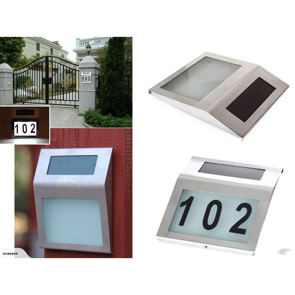 """*SHIP 1DAY from MALAYSIA"""" Home LED Solar Light Door Number Wall Plate"""