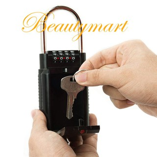 💖Combination Lock Box Key Storage Lock Box 4-Digit Combination Lock  Waterproof Indoor/Outdoor