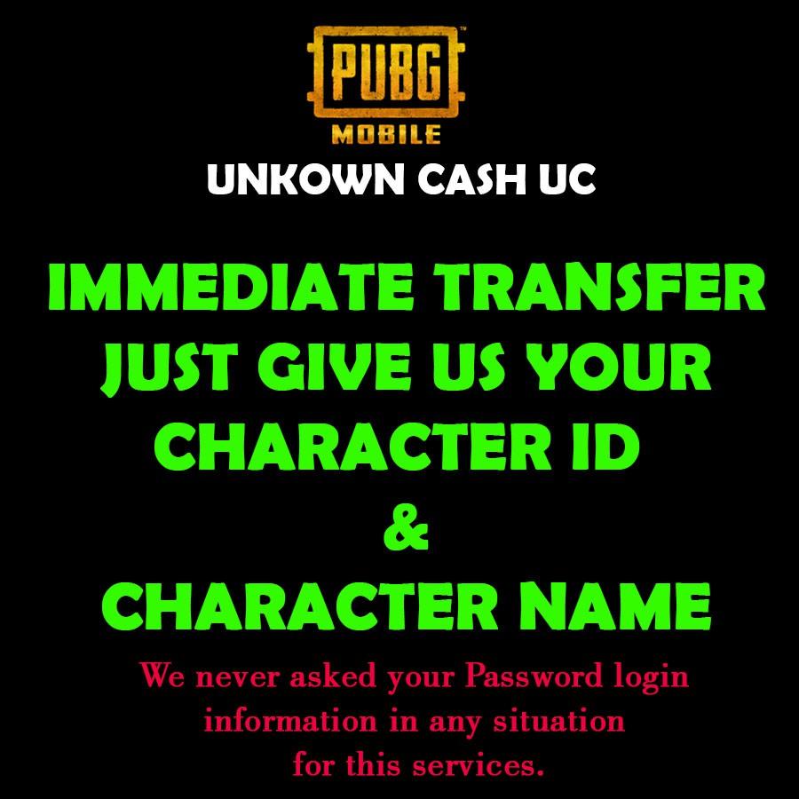 PUBG MOBILE UC CASH INSTANT TRANSFER | Shopee Malaysia