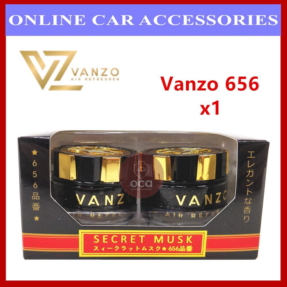 Vanzo 656 Black Gold Series Secret Musk Car Perfume Air Freshener (16ml x 2)