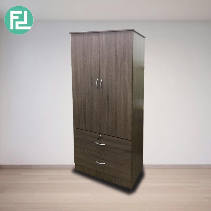 CROMER 2-Door wardrobe-Dark Oak (UWD-2711)