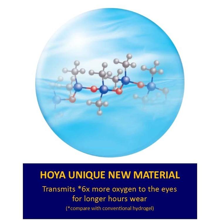 Hoya Airy Monthly ( 3 Lenses/ Box + FOC 1pc) 4PCS