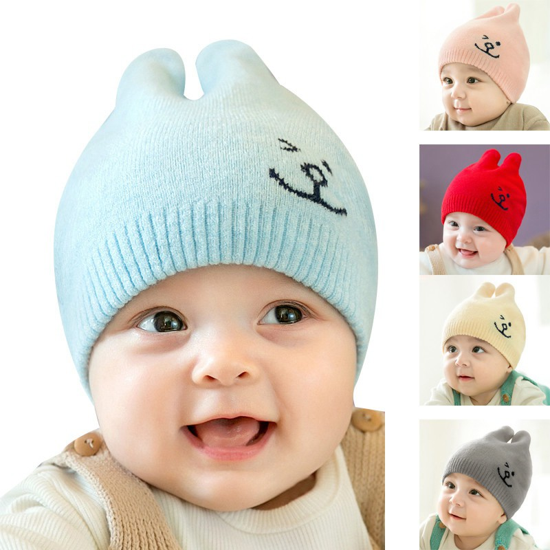 9a0945da7 New Knitted Baby hat Woolen Yarn Ear Protectors Cap VF0235