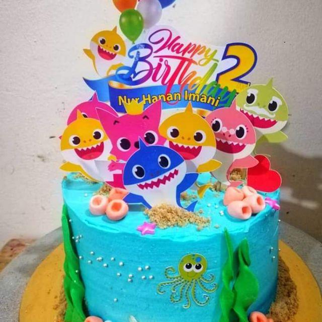 More Design Cake Topper Kek Cake Decor Baby Shark Little Pony Avengers Boboiboy Frozen Elsa Ejen Ali Princess Spiderman Shopee Malaysia