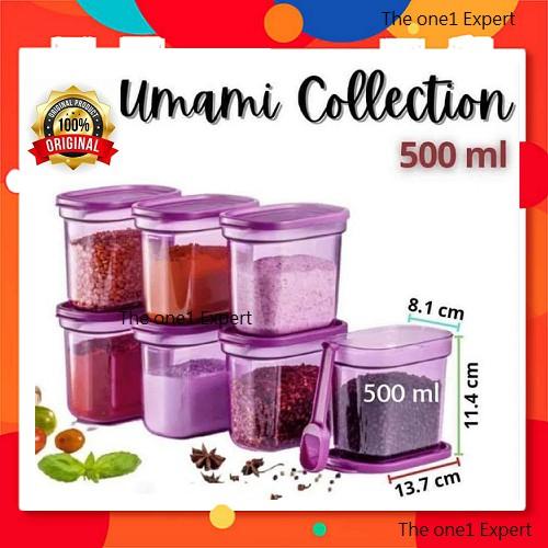 NEW!! Tupperware Umami Collection with Spoon 500ml (11157175) Bekas Umami Set Easy Open