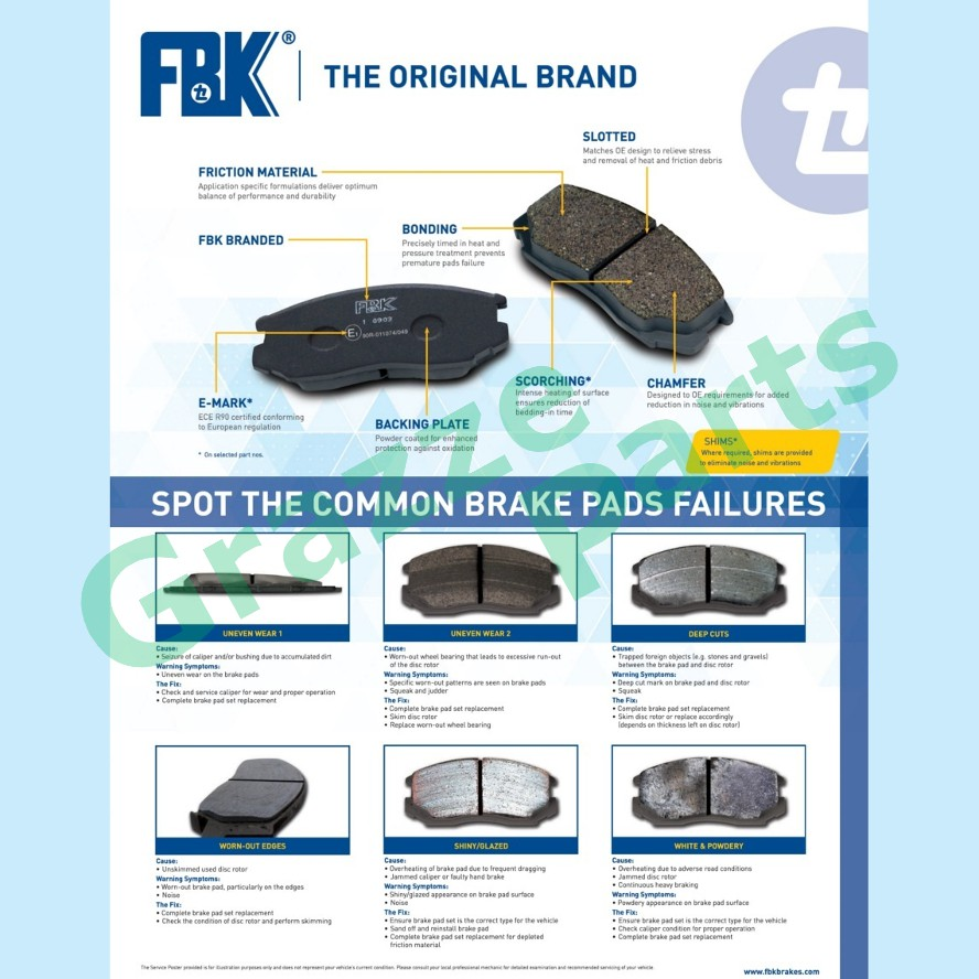 FBK Disc Brake Pad Front for FD2053MS Toyota Camry SXV10 SXV20 ST171