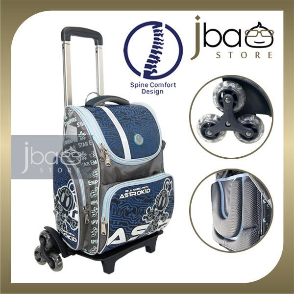2020 Astrokid 6 Wheels Kid Trolley School Bag Astrokids 3D Foam Cushion Backpack Spine Comfort design R-801973-NV
