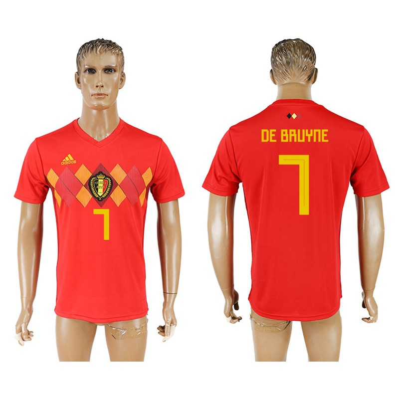 Hot sale ⚽Adidas World Cup Belgium De Bruyne  7 Football Jersey   Short  9f8cff205
