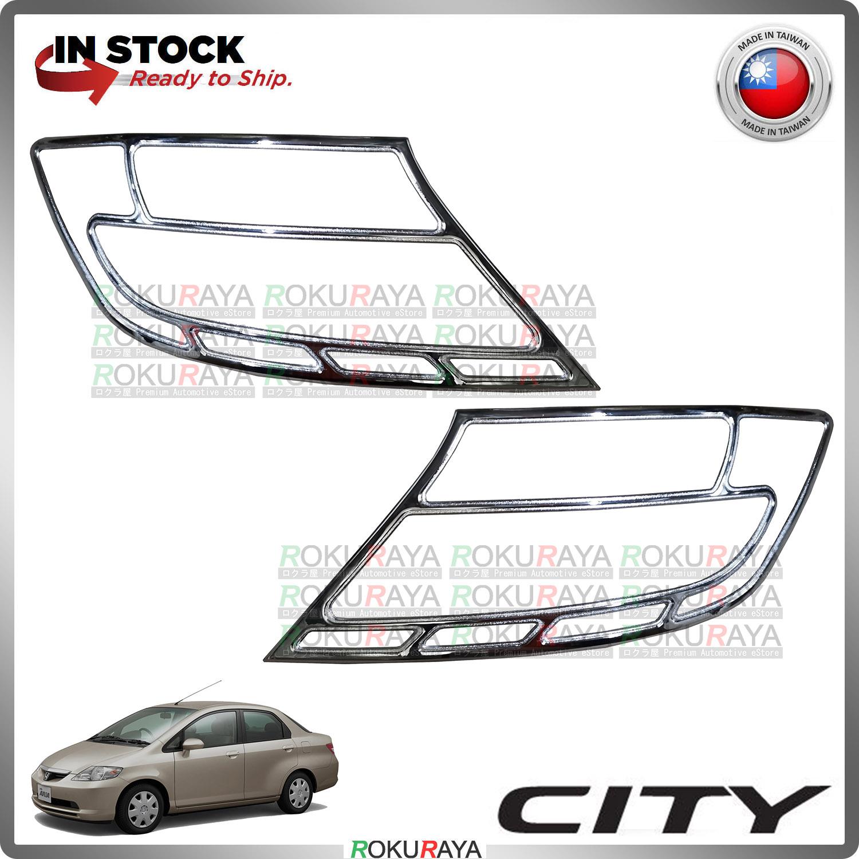 [CHROME] Honda City SEL 2003-2005 ABS Plastic Rear Tail Lamp Garnish Moulding Cover Trim Car Accessories Parts