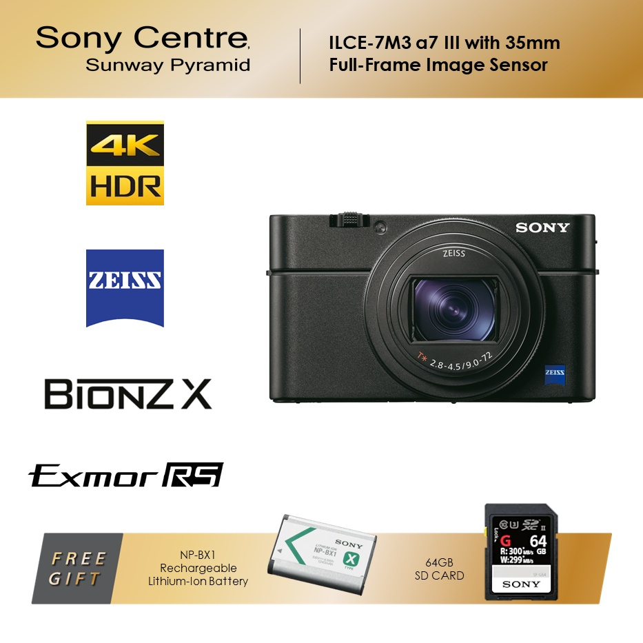 Sony RX100M6 Broad Zoom Range and Super-Fast AF Compact Camera