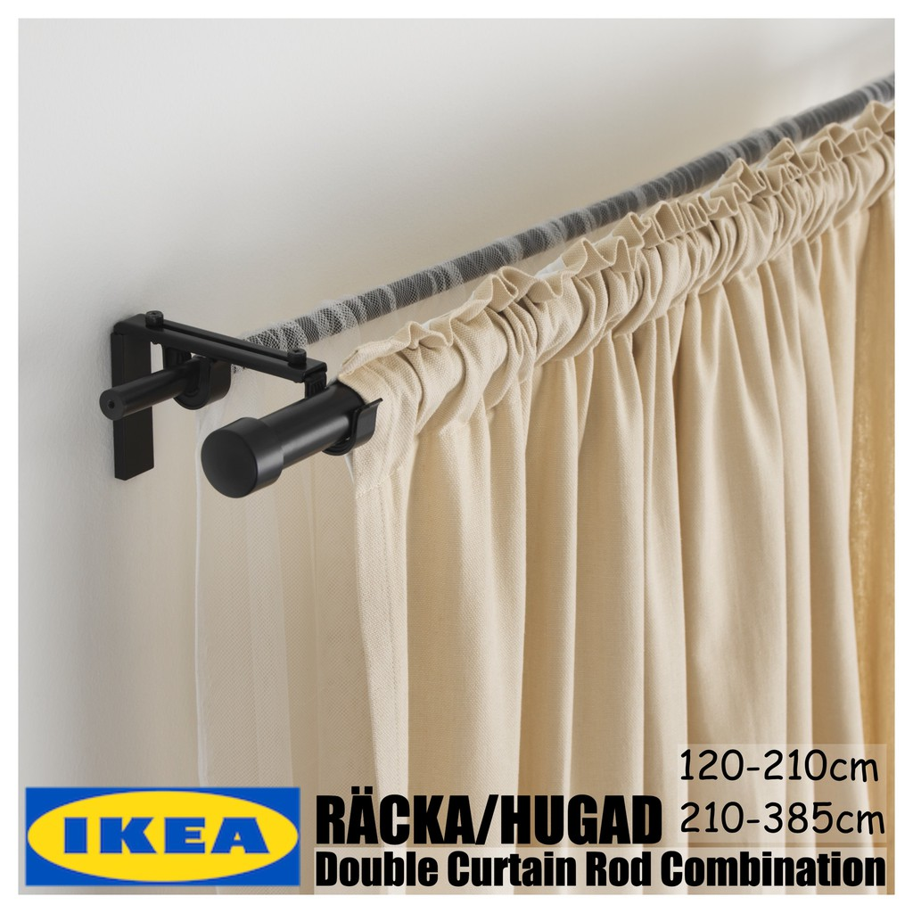 Ikea Racka Hugad Set Langsir Double Curtain Rod Combination