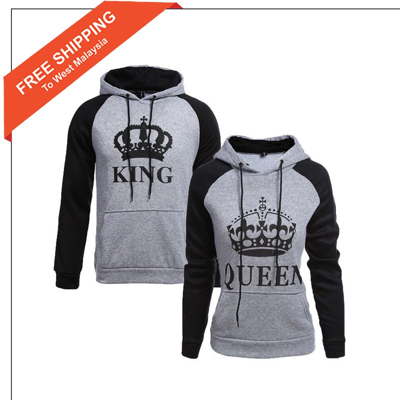 King /& Queen Matching Couple Jumper Pullover Family Mr and Mrs Sweatshirt Tops