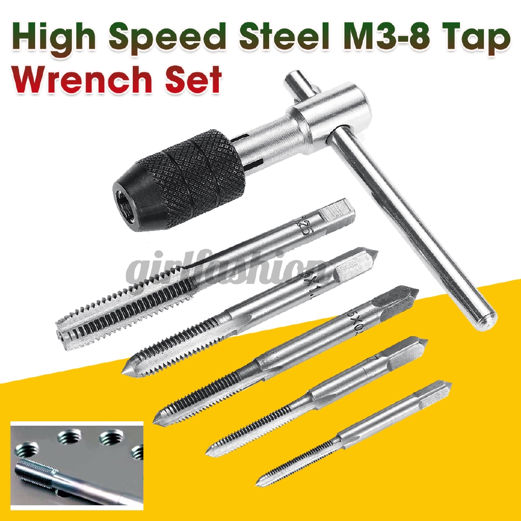 High Speed Steel Screw Tap Wrench Tapping Holder Engineers Carpentry Hand Tool