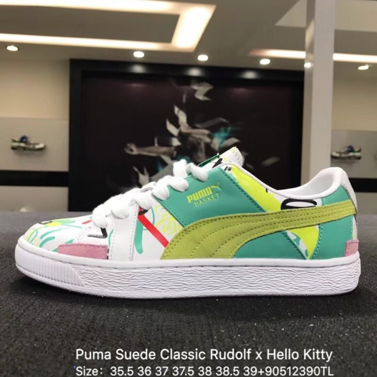 b32d4641c224a8 Puma Suede Classic Rudolf x Hello Kitty 50th Women s Shoes Sport ...