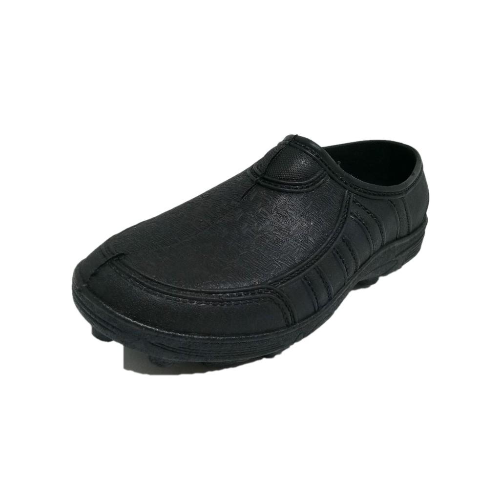 Adidas Kampung Gajah Kasut Getah Cap Gajah Kerja Lasak Hiking Rubber NON Slip shoes(Black) -301