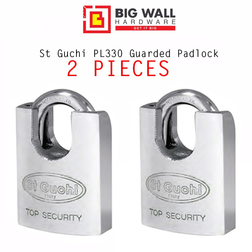 St Guchi SGPL330 / PL600 40mm Guarded Padlock [ 2 Pieces Pack] Kunci