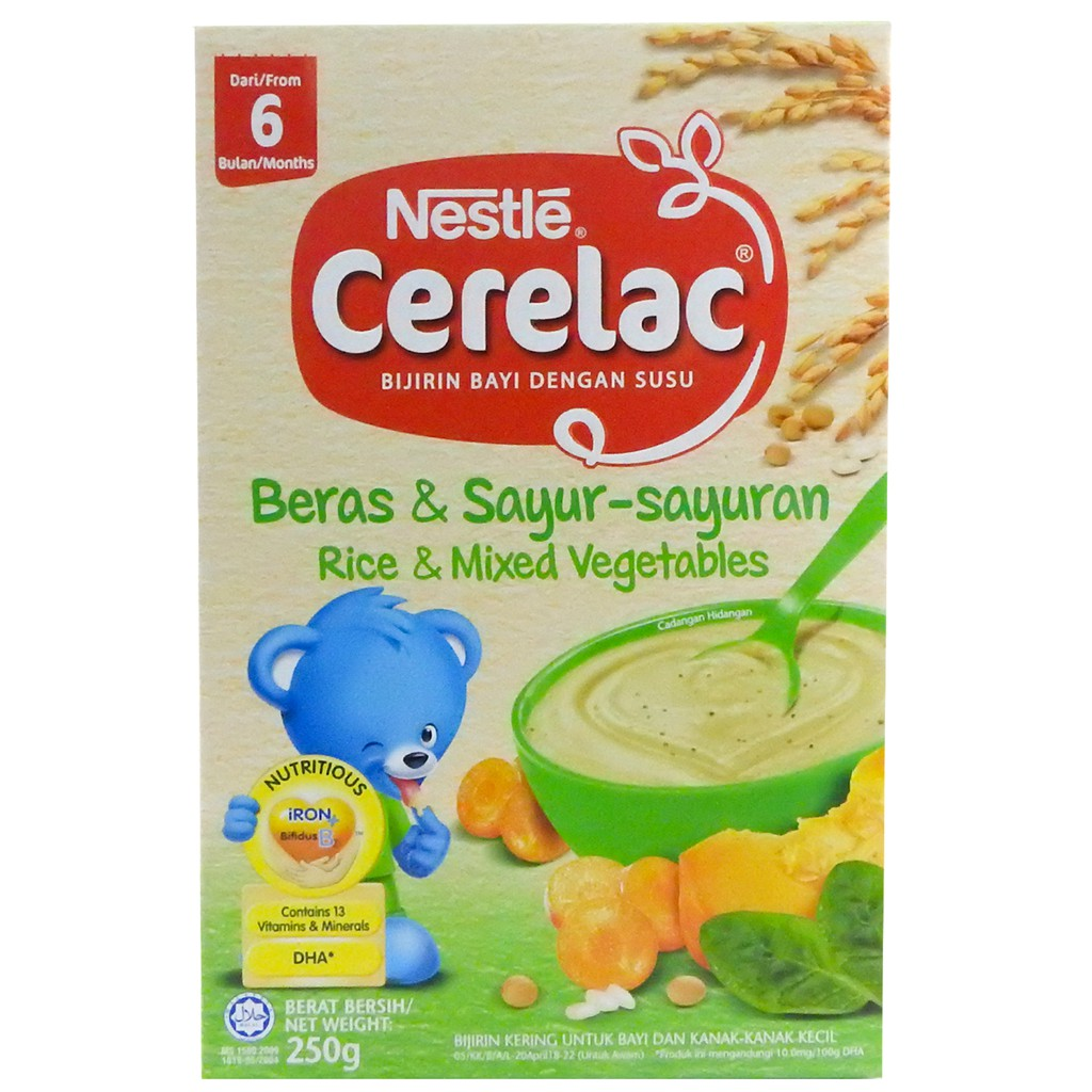 Nestle Cerelac Rice - Mix Vegetable (250g)