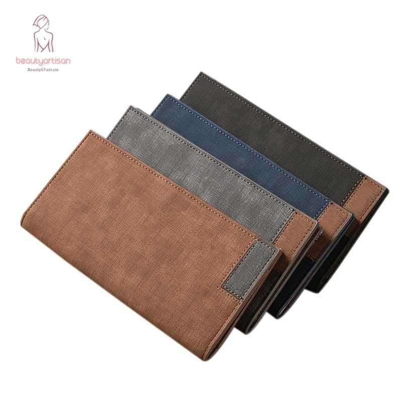 8da1c1ba9a 🔥HOT SALE🔥Stylish Men Long Wallet Frosted Design PU Leather Wallets Card  Holder Soft Purse
