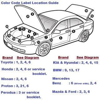 Perodua Myvi New and Old All Colors Touch Up Paint CW