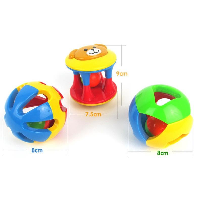 Cute Musical Grasp Handbell Developmental Ball Bed Bell Kids Baby Toy Rattle