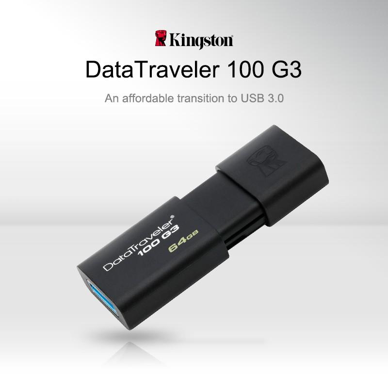 Kingston pen drive DataTraveler 100 G3 USB Flash Drives 32GB 64GB 128GB 256GB USB 3.0 high speed DT100G3