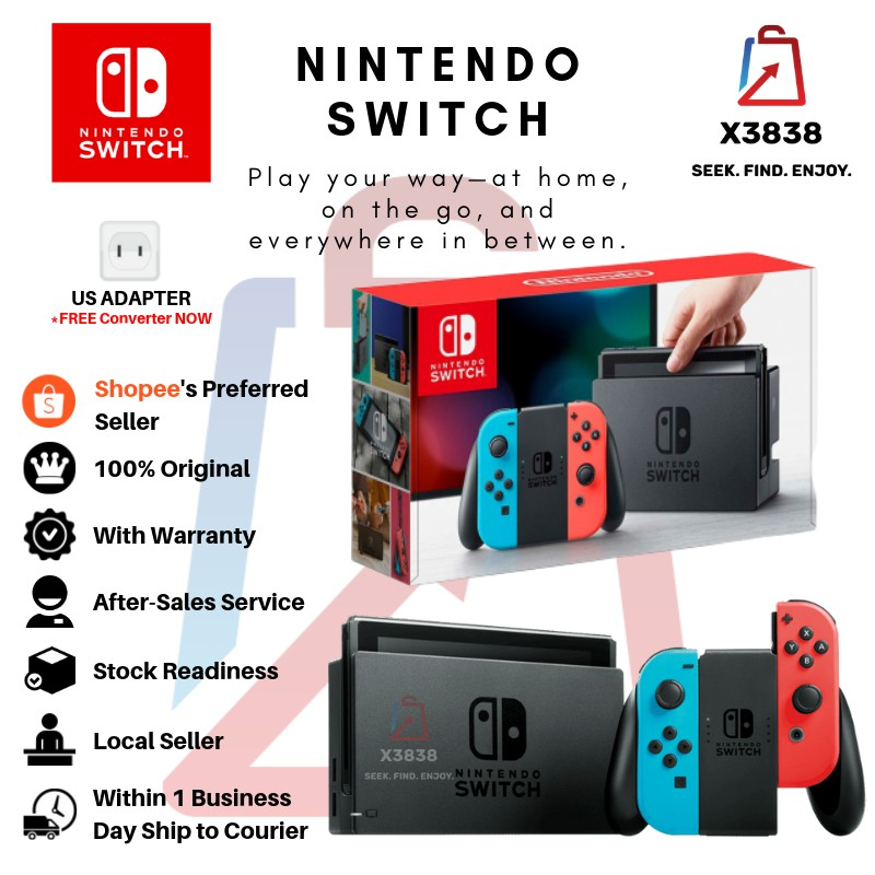 Nintendo Switch Console JPN Set - Neon Blue & Red