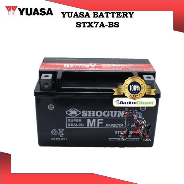 YUASA BATTERY STX7A-BS SHOGUN BRAND VRLA MODENAS-ELIT/COMEL/SCOOTER/VR125/KARISMA