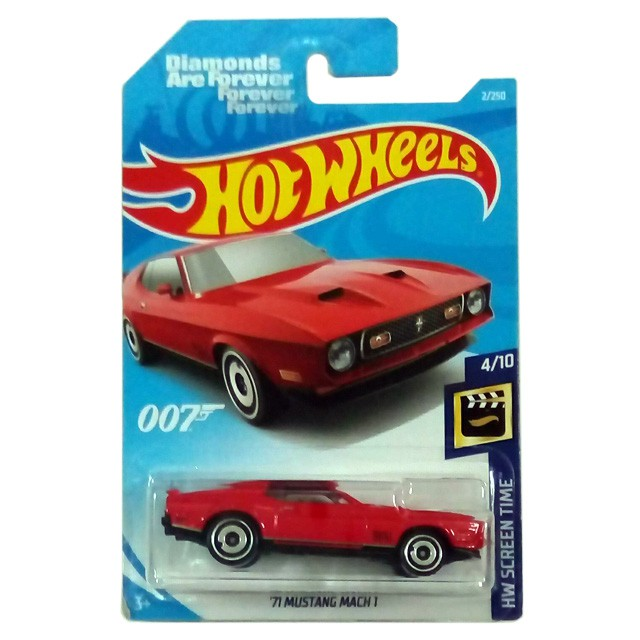 Screen Card Hot Wheels James Bond Diamonds are Forever /'71 Mustang Mach 1