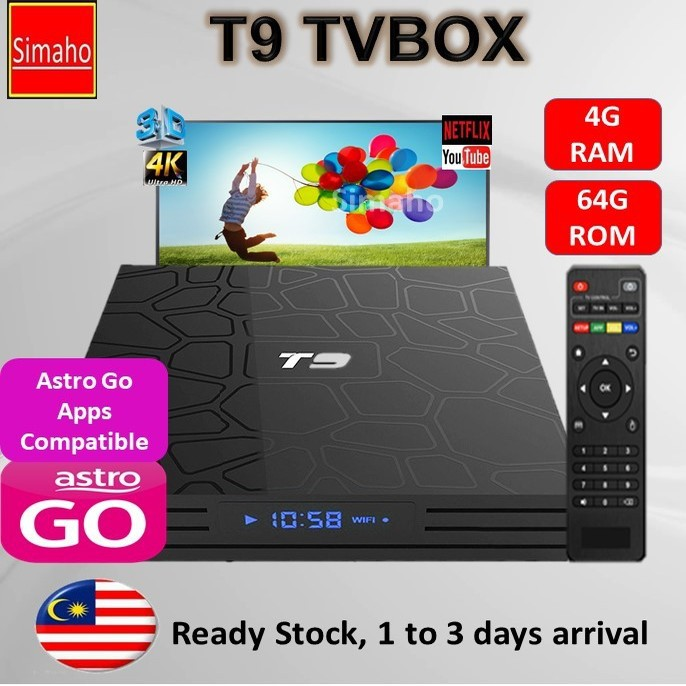 🔥Pre-installed live channels + Latest Apps🔥 T9 TVbox 4G Ram 64G Rom 5G  Wifi 4K IPTV Android 9 0 TV Box Youtube Netflix